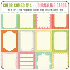 3x4 Journaling Tags