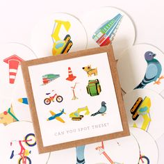 Fun game to bring with you in the car to keep the kids busy or while walking around the city. Free Printatble