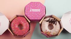 Donkin' Donuts // Packaging on Behance Cake Boxes Packaging, Baking Packaging, Cookie Packaging, Food Packaging Design, Packaging Ideas, Product Packaging, Donkin Donuts, Donuts Tumblr, Food Business Ideas