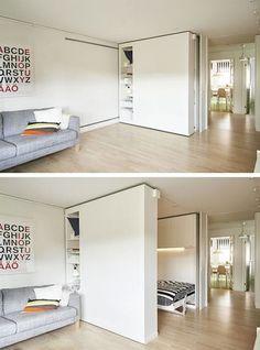 Espace flexible, modulable | pour recevoir quelqu'un | pour avoir un logement en évolution avec la vie de couple et de famille.