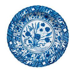 Blue-And-White Dish | The Aga Khan Museum: Ceramic, Mosaic - Safavid, 17th century CE