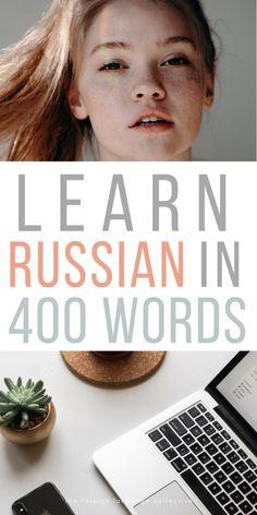 Learn Russian in 400 Words Russian Language Lessons, Russian Language Learning, Language Study, Learn A New Language, English Lessons, Foreign Language, Learn Russian Online, How To Speak Russian, Learn Polish