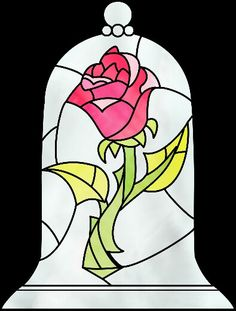 Beauty And The Beast Rose Drawing