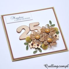 quilling, handmade, greeting card, birthday, quilling.com.pl