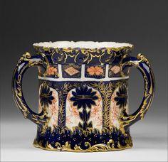 Royal Crown Derby Imari Late 19th Century Triple Handle Loving Cup