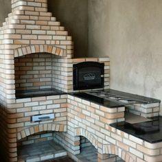 Fogoarte Churrasqueira tem a solução para pequenos espaços. Chutrasqueira com gorno e fogao a lenha em L Outdoor Stove, Pizza Oven Outdoor, Brick Bbq, Shade House, Wood Oven, Wooden Terrace, Cabin Tent, Cooking Stove, Rustic Shabby Chic