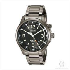 Seiko Men's SKA707 Kinetic Analog Display Japanese Quartz Grey Watch
