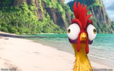 #HeiHei - there's no one upstairs. The lights are off :] #Moana