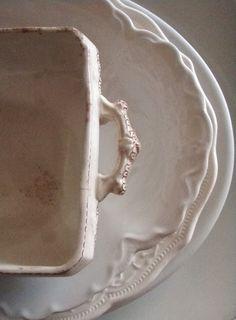 Old ironstone crockery Vintage China, Vintage Love, White Dishes, White Plates, White China, Shades Of White, Stoneware, Earthenware, Shabby Chic