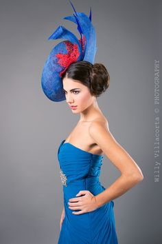 Red and blue hat