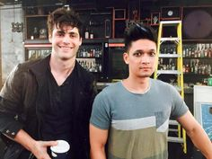 Matthew Daddario plays as Alexander (Alec) Lightwood!! Harry Shum Jr. plays as Magnus Bane!!