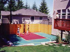 Backyard Basketball Court                                                       …