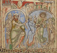 King Herod orders the massacre of the innocents, The Winchester Psalter, mid 12th century