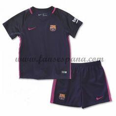 c1ad0614c836b Camisetas Futbol Niños Barcelona Segunda Equipación 2016-17