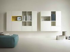 Modular suspended highboard with doors T030 Collection by Lema | design Piero Lissoni