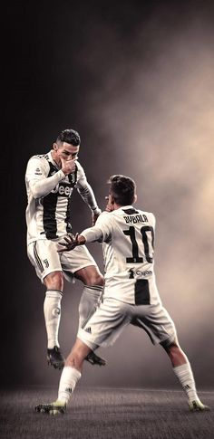 Cristiano Ronaldo and Paulo Dybala celebrate the goal for Juventus # football Cr7 Messi, Messi Vs Ronaldo, Ronaldo Football, Neymar, Cristiano Ronaldo 7, Cristiano Ronaldo Wallpapers, Juventus Fc, Juventus Players, Cr7 Wallpapers