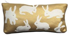 Gold rabbits purse