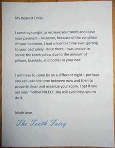 Tooth Fairy with a twisted sense of humor!