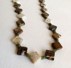 Jewelry Jasper and Jade Necklace Brown and Green by Smokeylady54