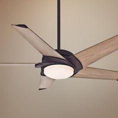 "54"" Casablanca Stealth Industrial Rust LED Ceiling Fan"