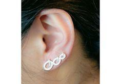 Circle Ear Cuff Ear Climber Ear Cuff Circle Stud by karlasdesign