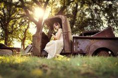 Rusty Truck Trash the Dress (Stephanie Rose Photography)