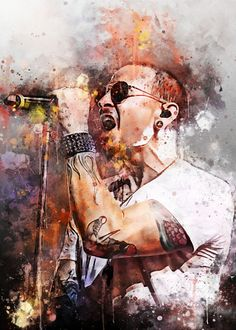 Chester Charles Bennington poster by from collection. Charles Bennington, Chester Bennington, Music Pics, Music Pictures, Linkin Park Wallpaper, Stairway Art, Linking Park, Linkin Park Chester, Men Photography