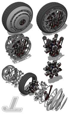 Radial Bike Wheel Assembly by JazzLizard