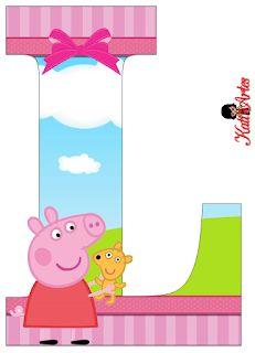 Pig Birthday, 3rd Birthday Parties, Peppa Pig Stickers, Peppa E George, Peppa Pig Teddy, Cumple Peppa Pig, Pig Party, Hello Kitty Wallpaper, Alphabet
