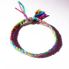 Braided Friendship Bracelet in Green, Aqua Blue, and Pink with Clasp