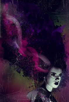 I felt more like Dr. Frankenstein than a Witch of anything. Life was mine to give and take, to force into boxes I created with merely a thought. Arte Horror, Horror Art, Beetlejuice, Rockabilly, Gothic, Famous Monsters, Bride Of Frankenstein, Classic Monsters, Macabre