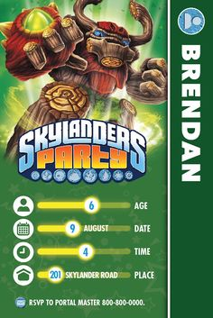 The Bubbly Hostess: Skylanders Birthday Party