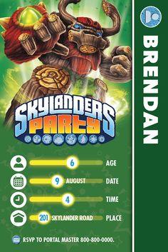 The Bubbly Hostess: Skylanders Birthday Party
