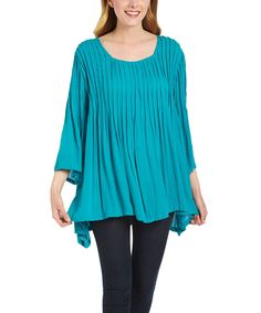 Jade Bell-Sleeve Scoop Neck Tunic