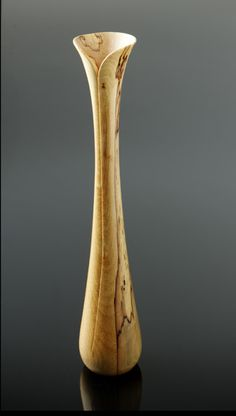 "Sterling Sanders ~ ""Spalted Birch Vase"" ~ Woodturning"