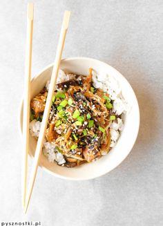 chinese chicken with mun mushrooms