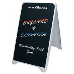 Budget Board, ideal for internal or sheltered use. Made from lightweight plastic.Prices from plus VAT including graphics both sides and local delivery Sandwich Board, Pubs And Restaurants, How To Attract Customers, Outdoor Signs, Reception Areas, Pavement, Budgeting, Advertising, Boards
