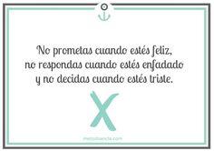 No prometas cuando estés feliz #ReflexiónCoaching