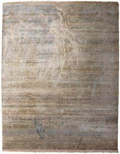 This modern abstract rug features a natural palette of earth tones. Horizontal lines are intersected by flowing abstract organic shapes. This rug i. Contemporary Rugs, Modern Rugs, Hand Knotted Rugs, Woven Rug, Interior Rugs, Interior Design, Indian Rugs, Textiles, Rustic Rugs