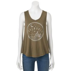 "Juniors' Harry Potter ""Hogwarts"" Graphic Tank, Teens, Size: Medium, Med Green"