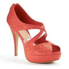 05d69641551 ELLE Cutout Peep-Toe Platform High Heels - Women