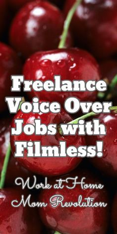 Freelance Voice Over Jobs with Filmless! / Work at Home Mom Revolution Earn Money From Home, Earn Money Online, Online Jobs, Way To Make Money, Legit Work From Home, Work From Home Moms, Leaving Home, Revolution, Work From Home Opportunities
