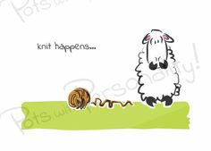 printable im sorry card sheep themed knit happens