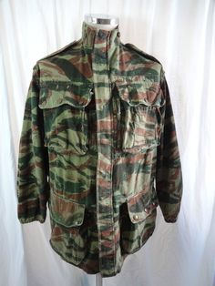 Vtg 50s French army Indo China Algerian war para Foreign Legion smock jacket   £129.75 (16B)
