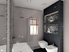 łazienka ze szklaną mozaiką