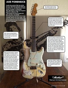 "philip sayce's stratocaster ""Mother""  Fender 63'"