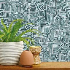 Get the best modern beach style with Swell by Tempaper. Easy to apply wallpaper panels.