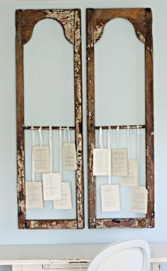 Use old shutters to frame or hang memorabilia