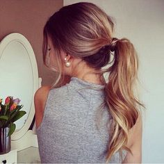 fancy ponytail. this could be good for school or even a fancy event Ponytail haircuts are back. Check out how to quickly make them at http://unique-hairstyle.com/hair-ponytail-ideas/