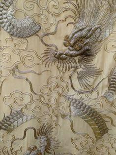 Vintage Kimono Japanese Silk with lavish silk embroidery by Ritzco, $180.00